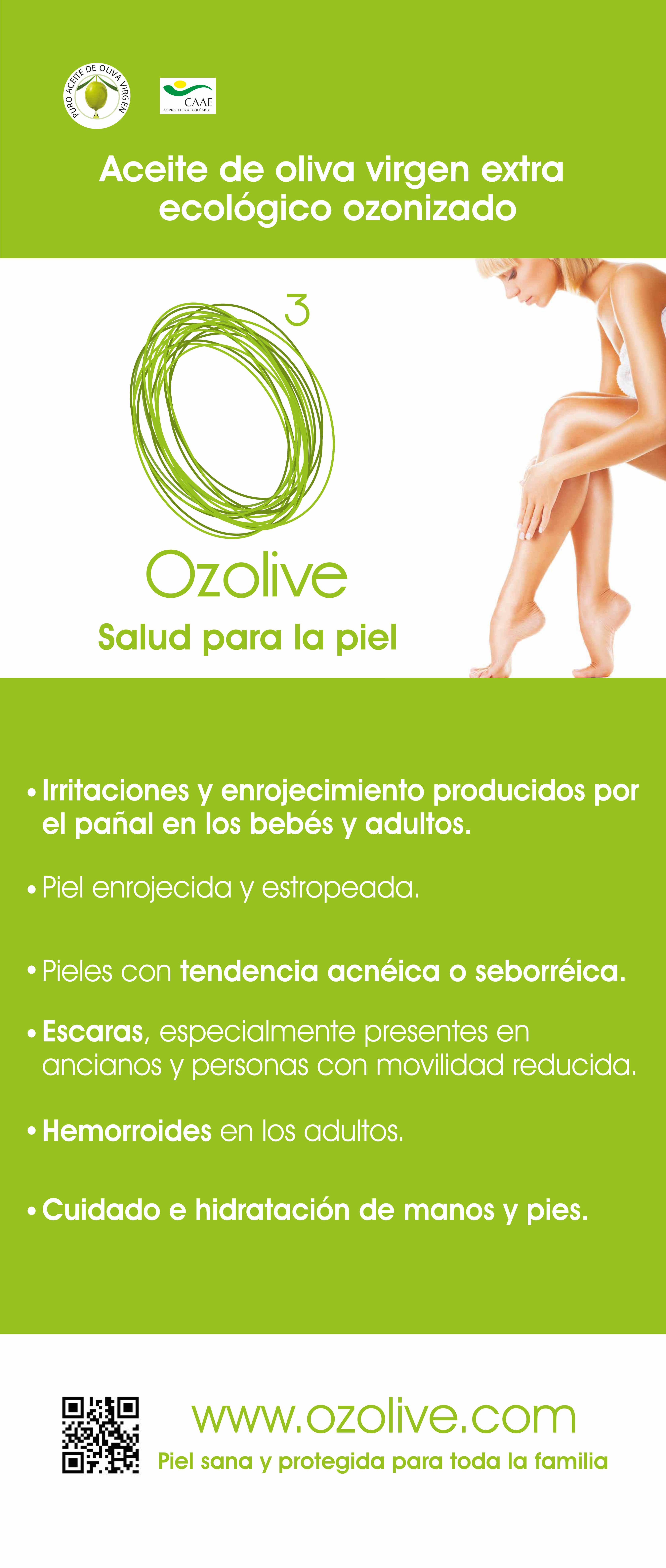 Aceite ozonizado para las irritaciones y problemas de la piel. 100% natural